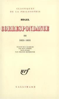 Correspondance. Volume 3, 1823-1831
