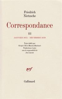 Correspondance. Volume 3, Janvier 1875-décembre 1879