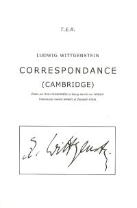Correspondance (Cambridge)