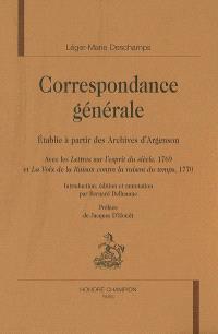 Correspondance générale : établie à partir des archives d'Argenson