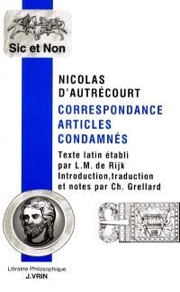 Correspondance, articles condamnés