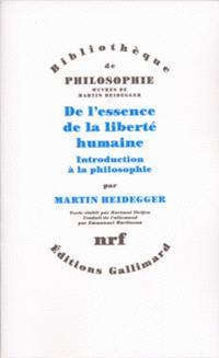 De l'essence de la liberté humaine : introduction à la philosophie