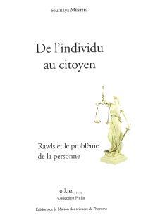 De l'individu au citoyen : Rawls et le problème de la personne
