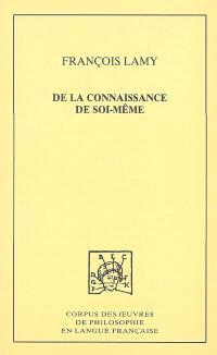 De la connaissance de soi-même. Volume 2, Traité III