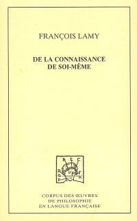 De la connaissance de soi-même. Volume 1, Traités I et II