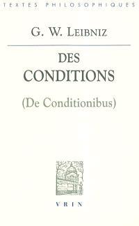 Des conditions = De conditionibus
