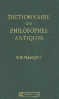 Dictionnaire des philosophes antiques, Supplément