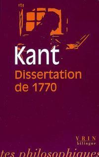 Dissertation de 1770