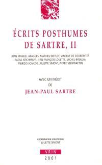 Ecrits posthumes de Sartre. Volume 2
