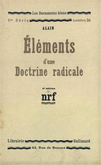 Eléments d'une doctrine radicale