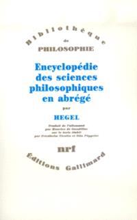 Encyclopédie des sciences philosophiques en abrégé : 1830