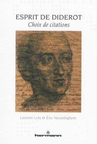 Esprit de Diderot : choix de citations