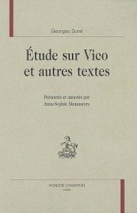Etude sur Vico et autres textes