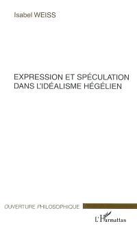 Expression et spéculation dans l'idéalisme hégélien