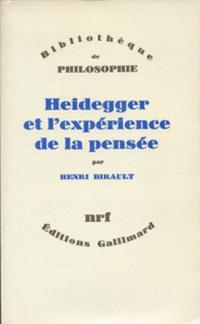 Heidegger et l'expérience de la pensée