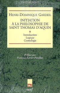 Initiation à la philosophie de saint Thomas d'Aquin