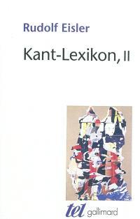 Kant-Lexikon. Volume 2