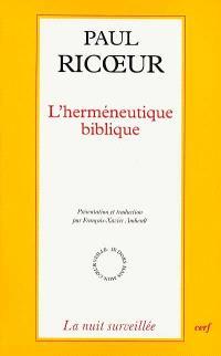 L'herméneutique biblique