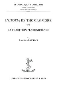 L'Utopia de Thomas More et la tradition platonicienne