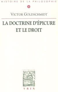 La doctrine d'Epicure et le droit
