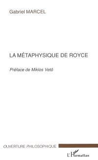 La métaphysique de Royce