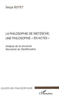 La philosophie de Nietzsche, une philosophie en actes : analyse de la structure illocutoire du Zarathoustra