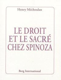Le droit et le sacré chez Spinoza