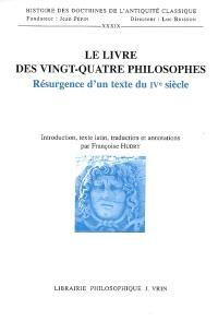 Le livre des XXIV philosophes : résurgence d'un texte du IVe siècle