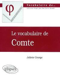 Le vocabulaire de Comte