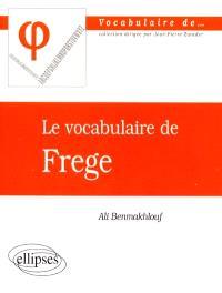 Le vocabulaire de Frege