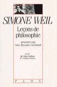 Leçons de philosophie de Simone Weil : Roanne 1933-1934