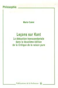 Leçons sur Kant : la déduction transcendantale dans la deuxième édition de la Critique de la raison pure
