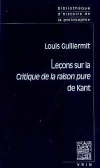 Leçons sur la Critique de la raison pure de Kant