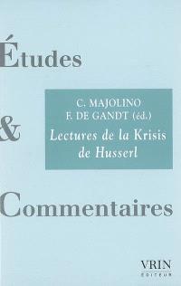 Lecture de la Krisis de Husserl