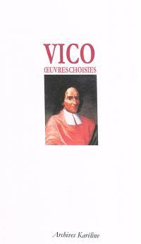 Oeuvres choisies de Vico