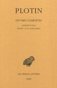 Oeuvres complètes. Volume 1-1