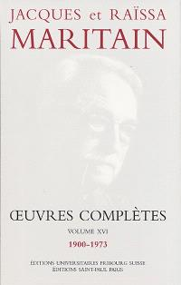 Oeuvres complètes. Volume 16, 1900-1973
