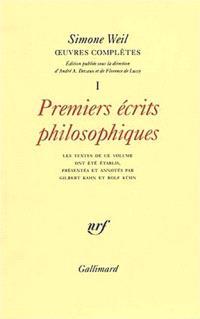 Oeuvres complètes. Volume 1, Premiers écrits philosophiques