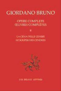 Oeuvres complètes = Opere complete. Volume 2, Le souper des cendres = La cena delle ceneri