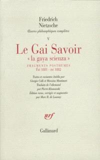 Oeuvres philosophiques complètes. Volume 5, Fragments posthumes : été 1881-été 1882