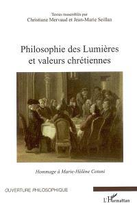 Philosophie des Lumières et valeurs chrétiennes : hommage à Marie-Hélène Cotoni