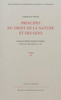 Principes du droit et de la nature et des gens. Volume 3