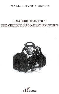 Rancière et Jacotot : une critique du concept d'autorité