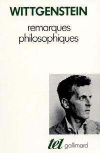 Remarques philosophiques