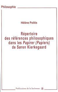 Répertoire des références philosophiques dans les Papirer (Papiers) de Soren Kierkegaard