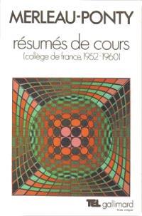 Résumés de cours au Collège de France : 1952-1960