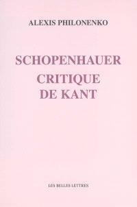 Schopenhauer, critique de Kant