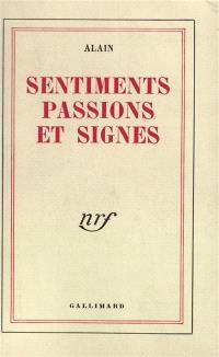 Sentiments, passions et signes