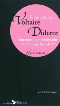 Voltaire, Diderot : écrits, entretiens et discours