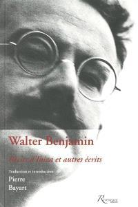 Walter Benjamin, récits d'Ibiza et autres écrits